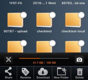 Mobile App Folder Selection