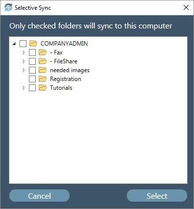 CloudSync Selective Sync