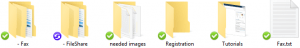 CloudSync Folder & File Status Icons