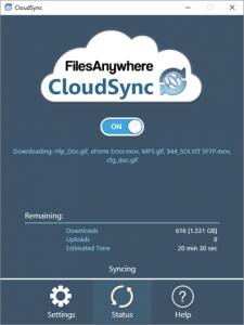 CloudSync Status